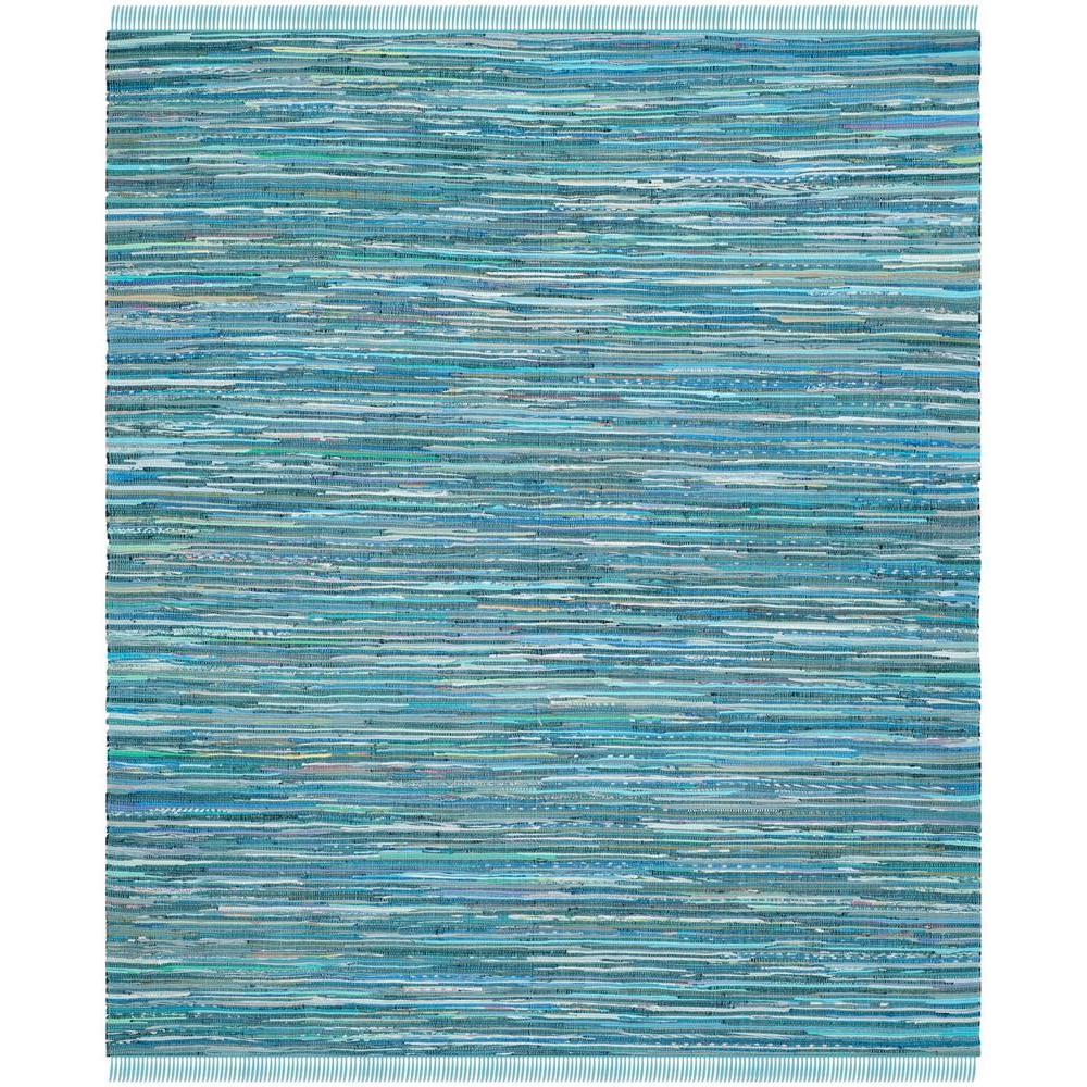 Rag Rug Blue/Multi 10 ft. x 14 ft. Area Rug