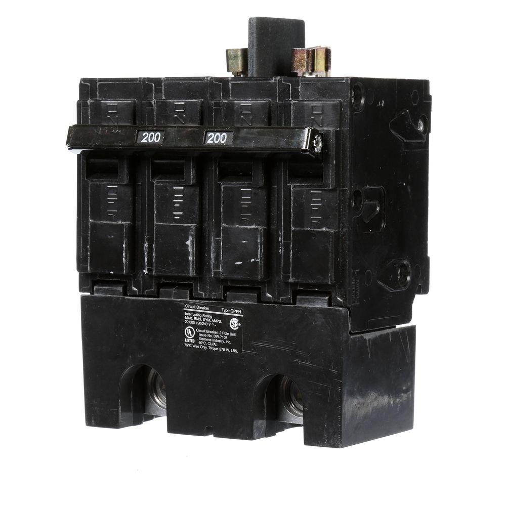 225 Circuit Breakers Power Distribution The Home Depot Replacement Parts Lift Time Delay Breaker 200 Amp Double Pole 22ka Type Qpph