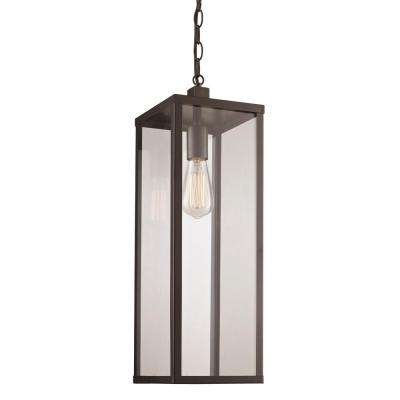 Black Finish Outdoor 1-Light Hanging Lantern