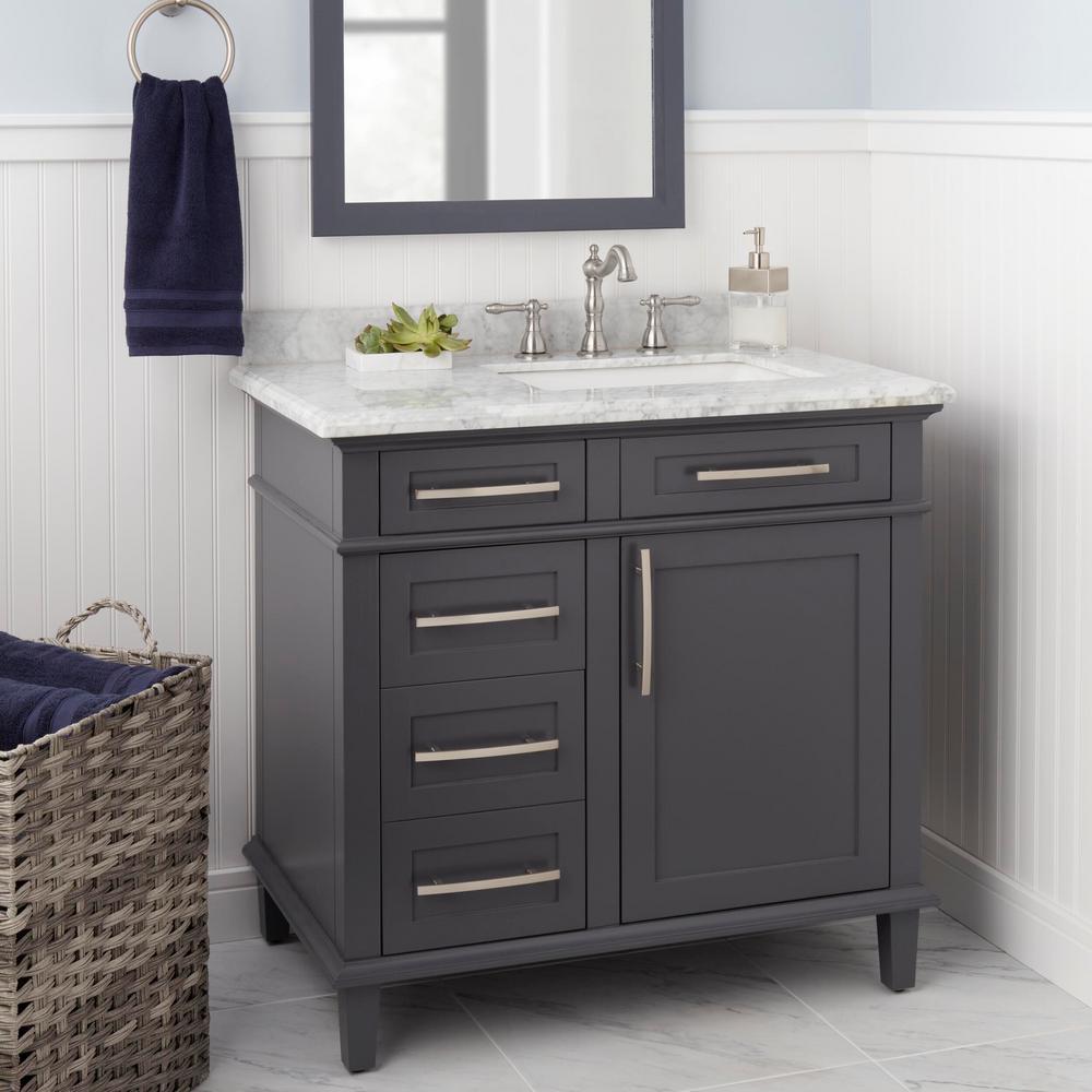 Lyndhurst 8 in. Widespread 2-Handle High-Arc Bathroom Faucet in Brushed Nickel
