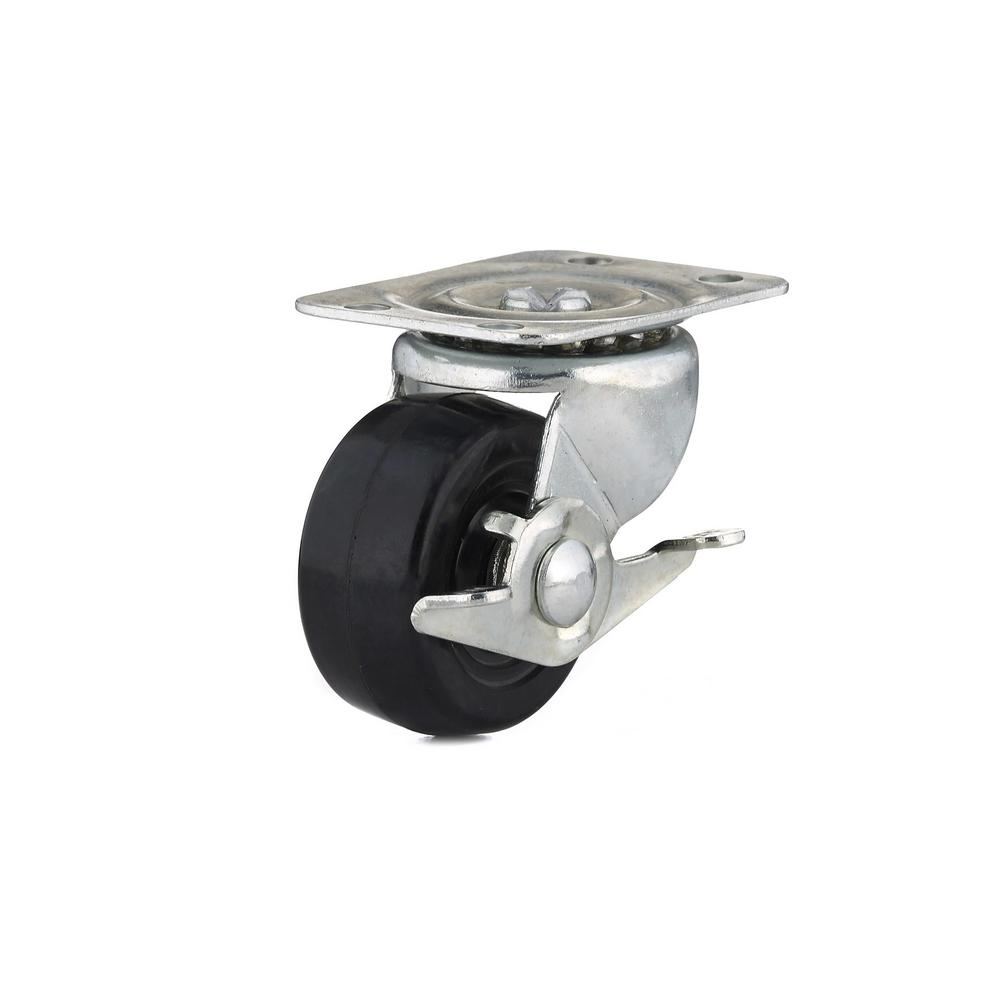 2 in. General-Duty Rubber Swivel Caster with Brake