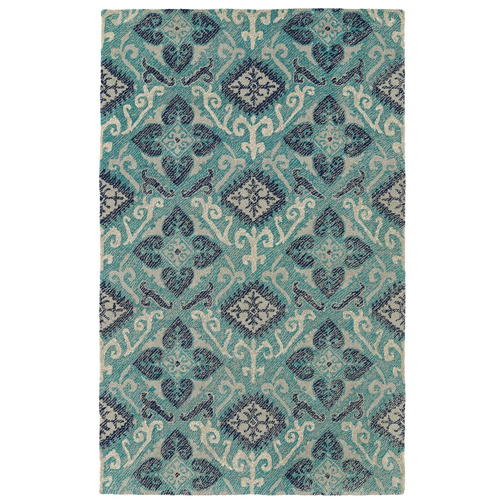 Weathered Teal 9 ft. x 12 ft. Indoor/Outdoor Area Rug