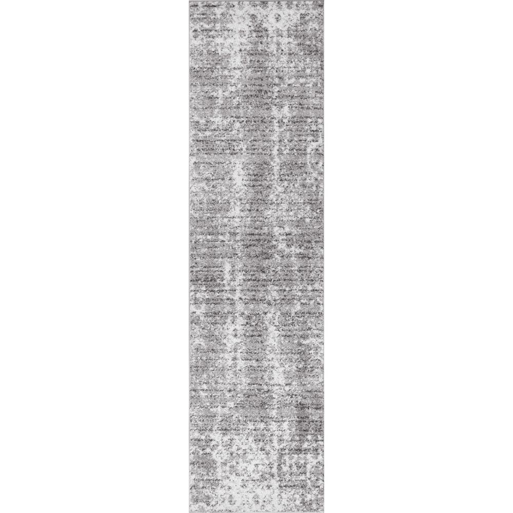 Runner Rug White Black 2 x 14 ft Polypropylene Loomed Animal Print Home Decor
