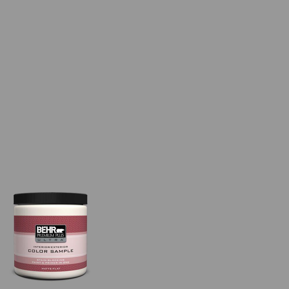 BEHR Premium Plus Ultra Home Decorators Collection 8 oz. #hdc-NT-10A Dolphin Gray Flat Interior/Exterior Paint and Primer in One Sample