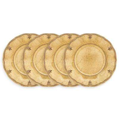 Rustica 4-Piece Yellow Melamine 8.5 in. Salad Plate Set
