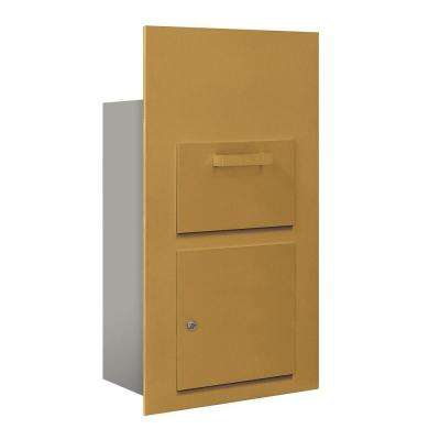 3600 Series Collection Unit Gold USPS Front Loading for 6 Door High 4B Plus Mailbox Units
