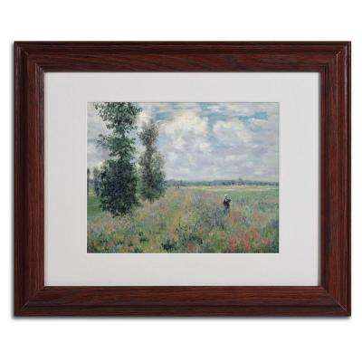 11 in. x 14 in. The Poppy Field Matted Brown Framed Wall Art
