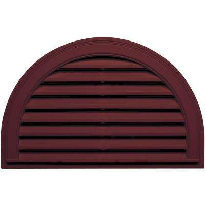 22 in. x 34 in. Half Round Gable Vent in Wineberry