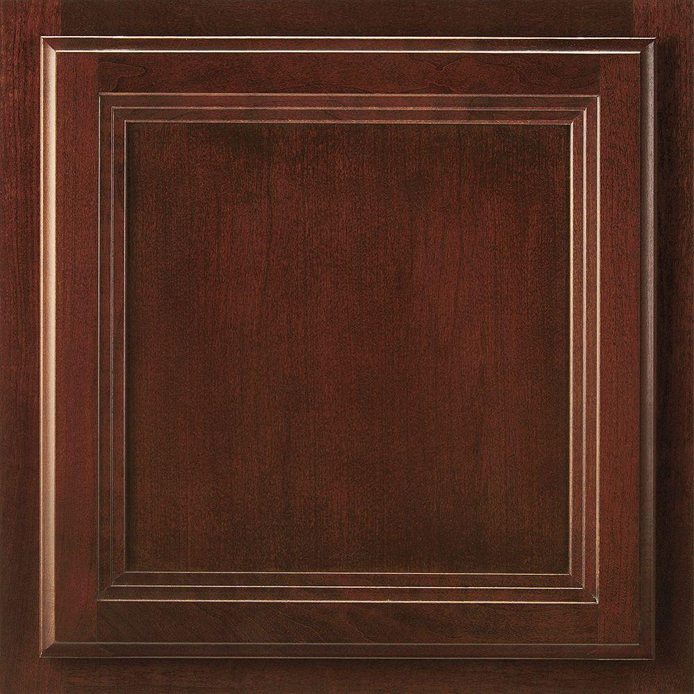 13x12-7/8 in. Cabinet Door Sample in Ashland Cherry Bordeaux