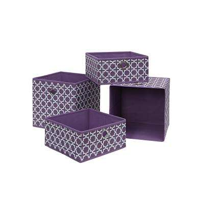 10.5 in. x 10.5 in. Lilac Storage Bin (4-Pack)