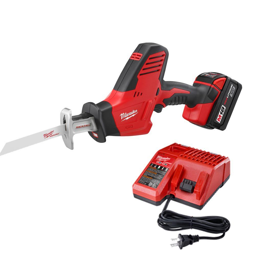 M18 18-Volt Lithium-Ion Cordless Hackzall Reciprocating Saw XC Battery Kit