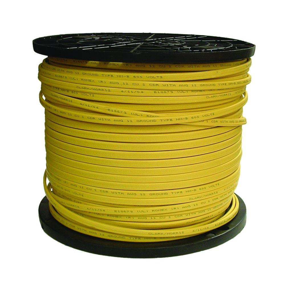 Southwire 1000 ft 122 solid romex simpull cu nm b wg wire 122 solid romex simpull cu nm b wg wire 28828201 the home depot greentooth Choice Image