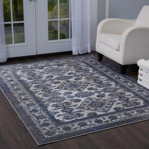 Bazaar Elegance Gray Blue 5 Ft X 7 Ft Indoor Area Rug 2 13152c 451 The Home Depot