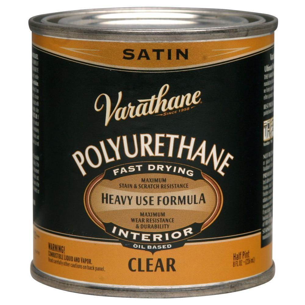 8 oz. Clear Satin Oil-Based Interior Polyurethane (4-Pack)