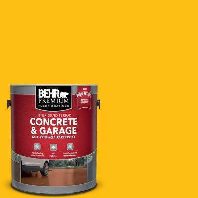 1 gal. #P290-7 Laser Lemon Self-Priming 1-Part Epoxy Satin Interior/Exterior Concrete and Garage Floor Paint