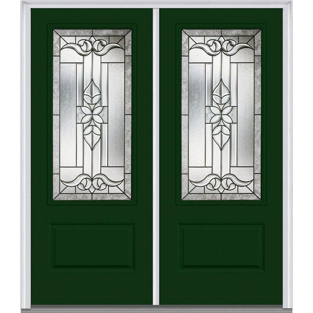 Mmi door 72 in x 80 in cadence left hand 3 4 lite 1 for Large glass exterior doors