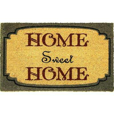 Aspen Home Sweet Home Blue/Ivory 18 in. x 30 in. Door Mat