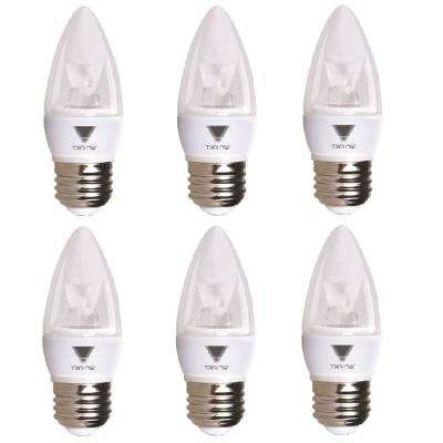 40-Watt Equivalent B11 Dimmable E26 Base Candelabra Torpedo LED Light Bulb Deco Bright White 3500K (6-Pack)