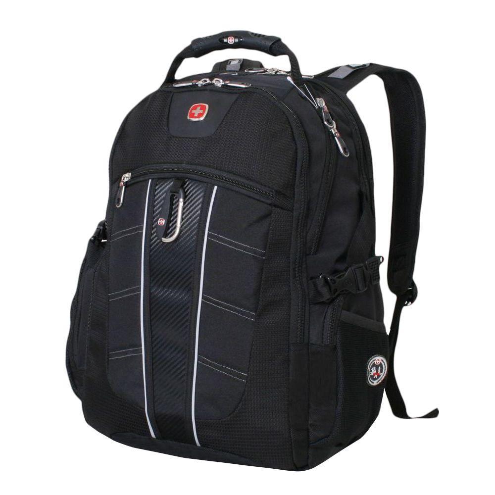 4358ac9a26 Black ScanSmart Laptop Backpack. SWISSGEAR Black ScanSmart Laptop Backpack