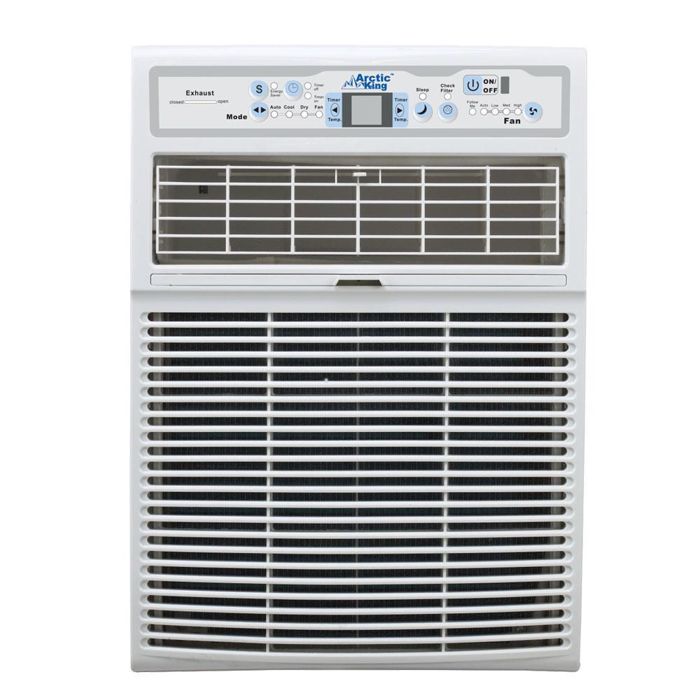 Midea 10,000 BTU 110-Volt Slide Casement Window Air Conditioner and Remote in White