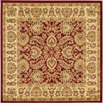 Voyage Asheville Red 6' 0 x 6' 0 Square Rug