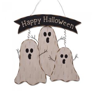 Glitzhome 16.55 inch H Wooden Ghost Wall Decor by Glitzhome