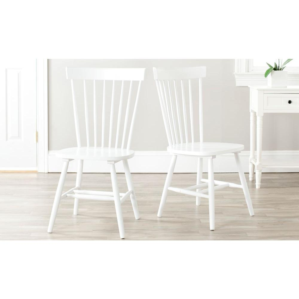 Safavieh Riley White Wood Dining Chair (Set of 9)-AMH9A-SET9 - The Home  Depot