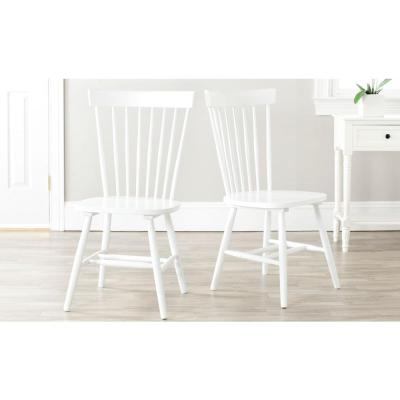 Riley White Wood Dining Chair (Set of 2)