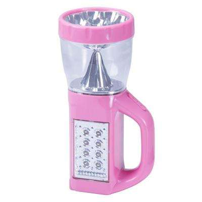 3-in-1 LED Camping Lantern Flashlight, Pink
