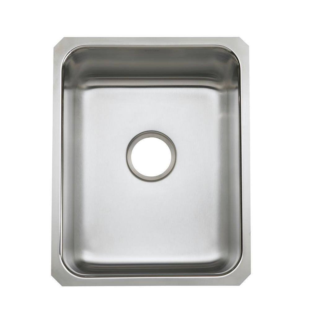 Kohler Undertone Undermount Stainless Steel 16 In Single Bowl Kitchen Sink