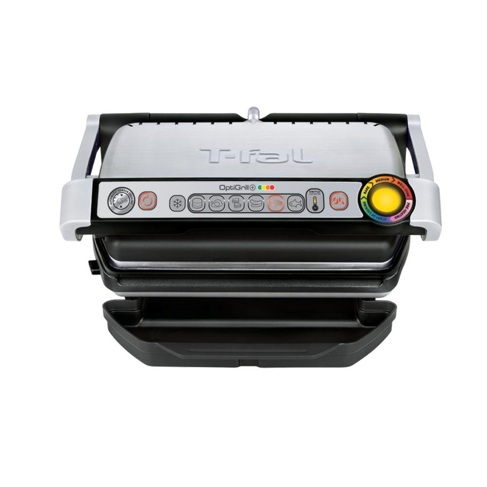 T-FAL Optigrill Indoor Grill, Stainless/Black