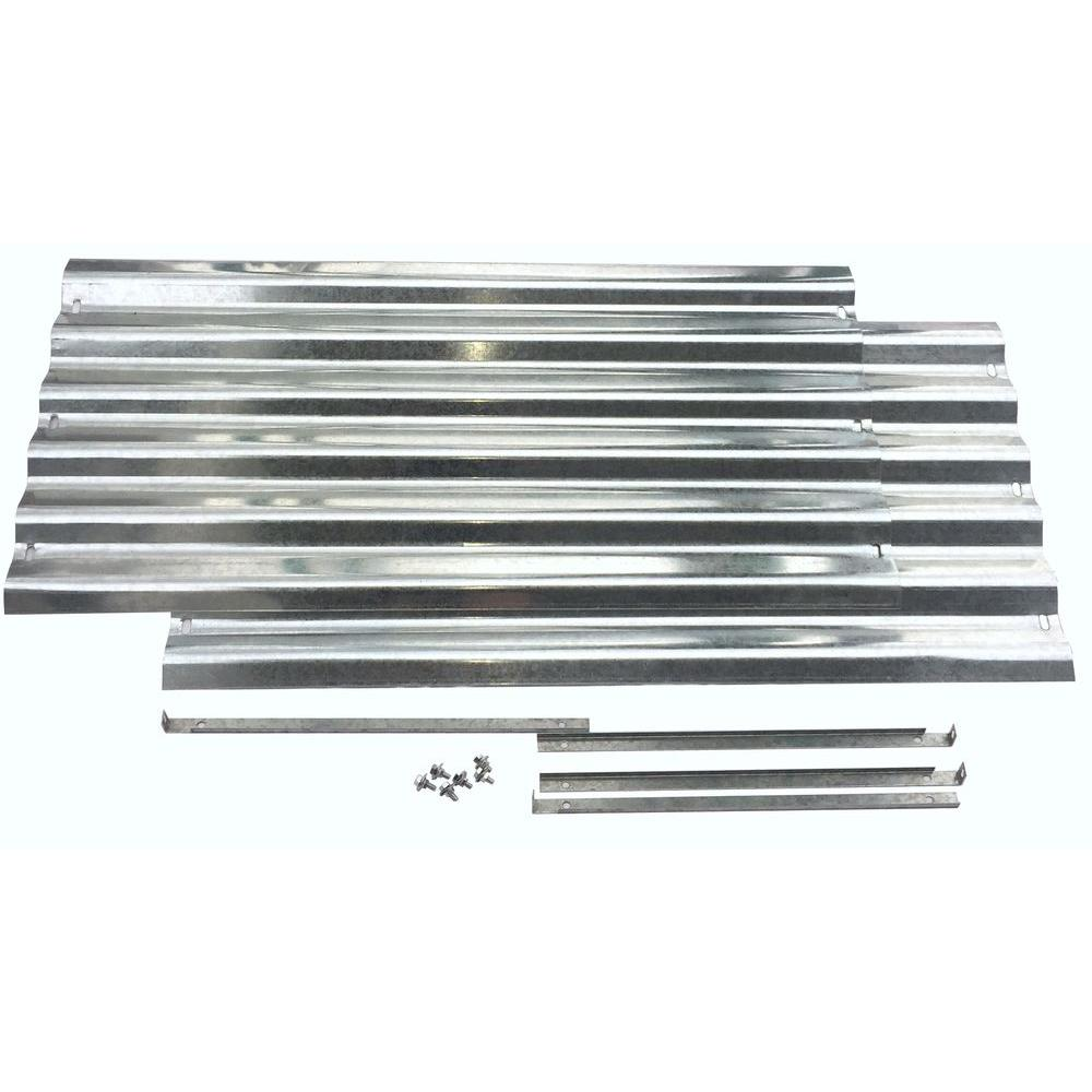 Earthmark Alto Series 36 In X 17 In Galvanized Metal Raised Garden Bed Extension Set Mgb H044 The Home Depot