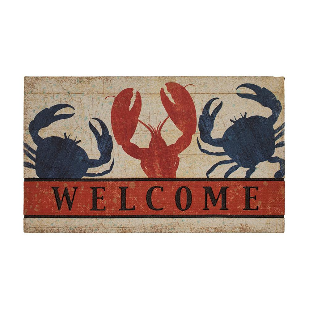 Mohawk Home Fresh Nautical Welcome 18 in. x 30 in. Recycled Rubber Door Mat