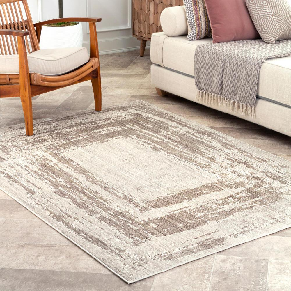nuLOOM Visconti Abstract Light Brown 8 ft. x 10 ft. Area Rug