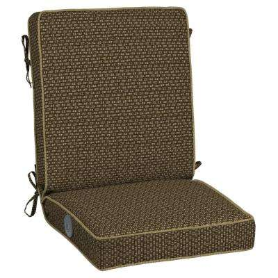 Rhodes Texture Adjustable Comfort Outdoor Dining Chair Cushion