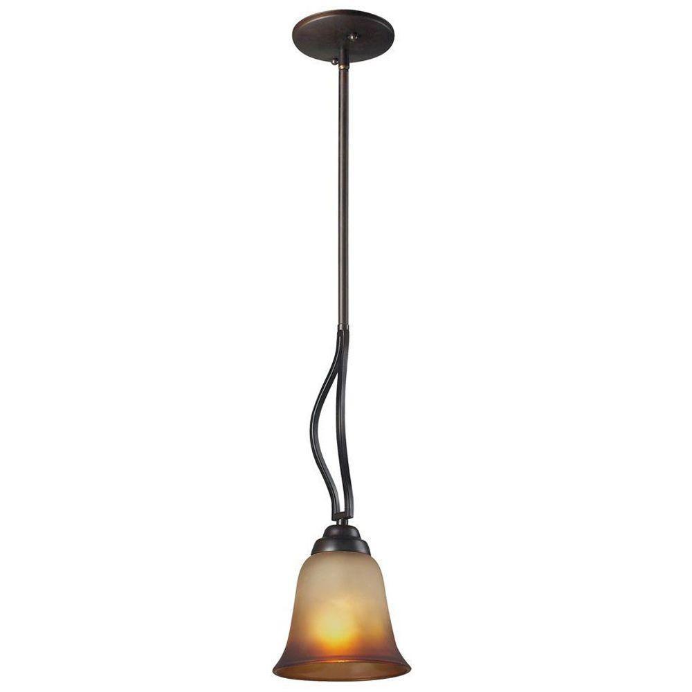 Titan Lighting Malaga 1-Light Aged Bronze Ceiling Pendant
