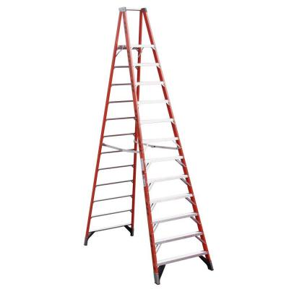 18 ft. Reach Fiberglass Platform Step Ladder with 300 lb. Load Capacity Type IA Duty Rating