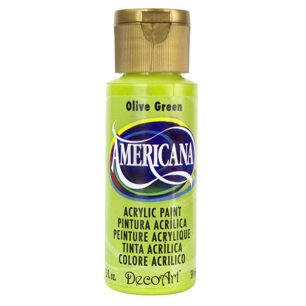 Americana 2 oz. Olive Green Acrylic Paint