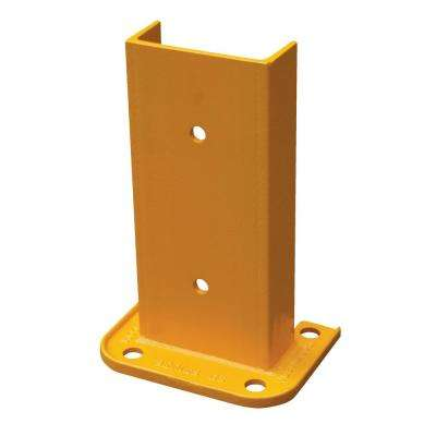 12 in. Narrow Yellow Steel Structural Rack Guard