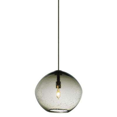 Mini isla 1 light bronze smoke xenon hanging mini pendant