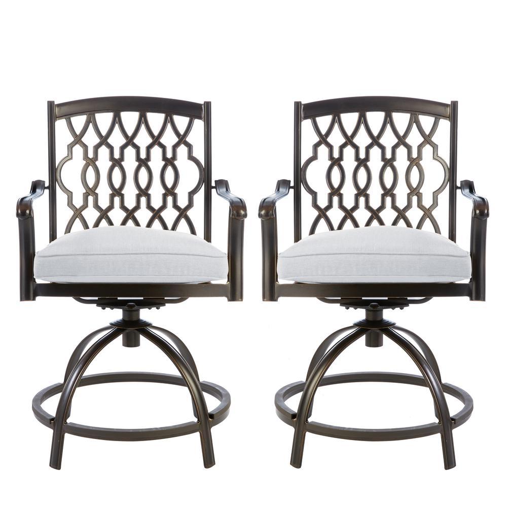 cast aluminum bar height rust resistant outdoor bar stools