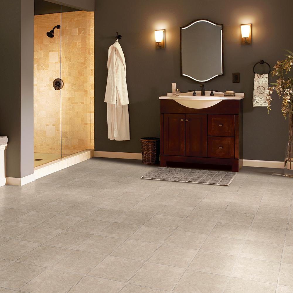Armstrong Grouted Ceramic Pumice 12 In X 12 In Residential Peel And Stick Vinyl Tile Flooring 45 Sq Ft Case