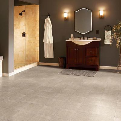 Grouted Ceramic Pumice 12 in. x 12 in. Residential Peel and Stick Vinyl Tile Flooring (45 sq. ft. / case)