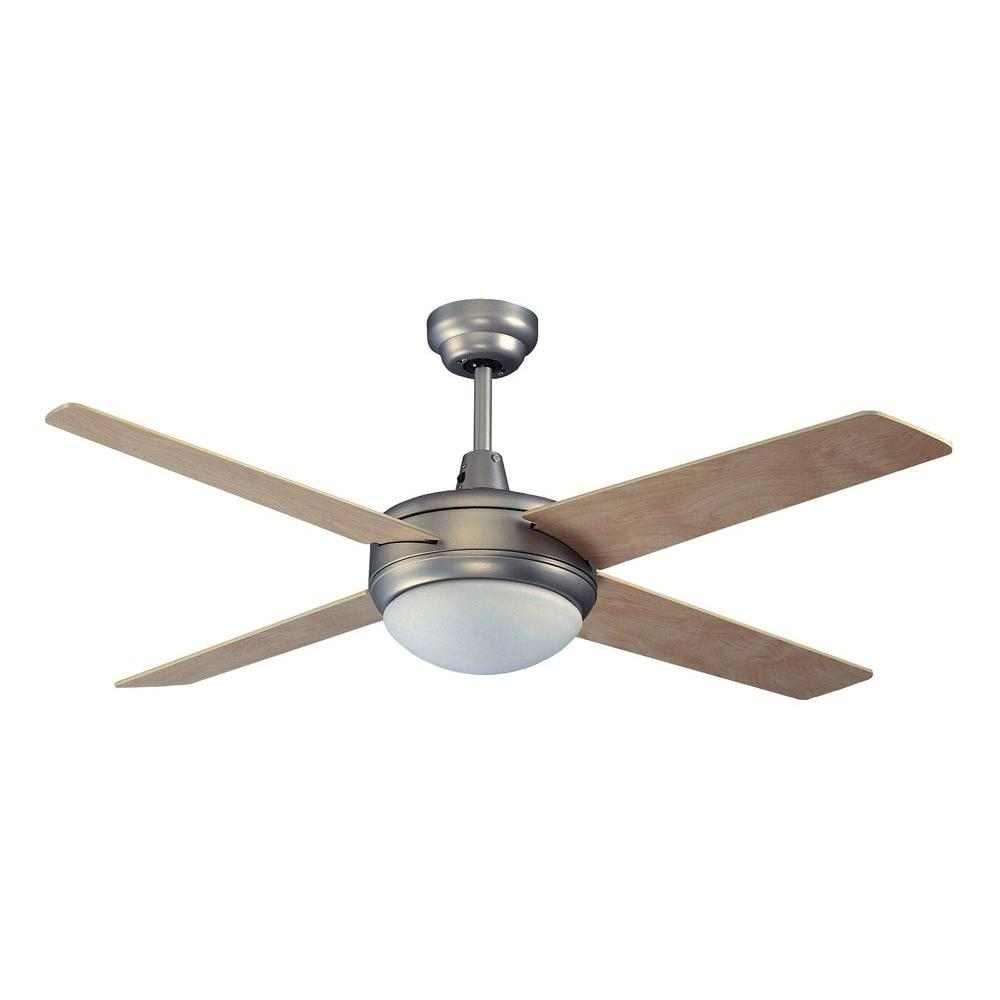 Royal Pacific 2-Light Fan Maple Blades Brushed Pewter Finish-DISCONTINUED