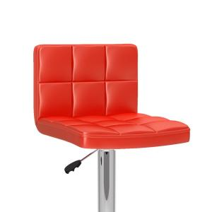 Pleasant Corliving Adjustable Red Leatherette High Back Bar Stool Gmtry Best Dining Table And Chair Ideas Images Gmtryco