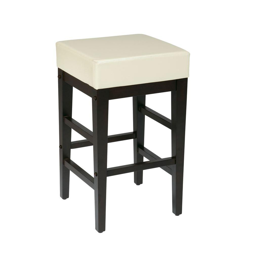 OSP Home Furnishings Metro 25 in. Cream Bar Stool, Cream/Black OSP Home Furnishings Metro 25 in. Cream Bar Stool, Cream/Black.