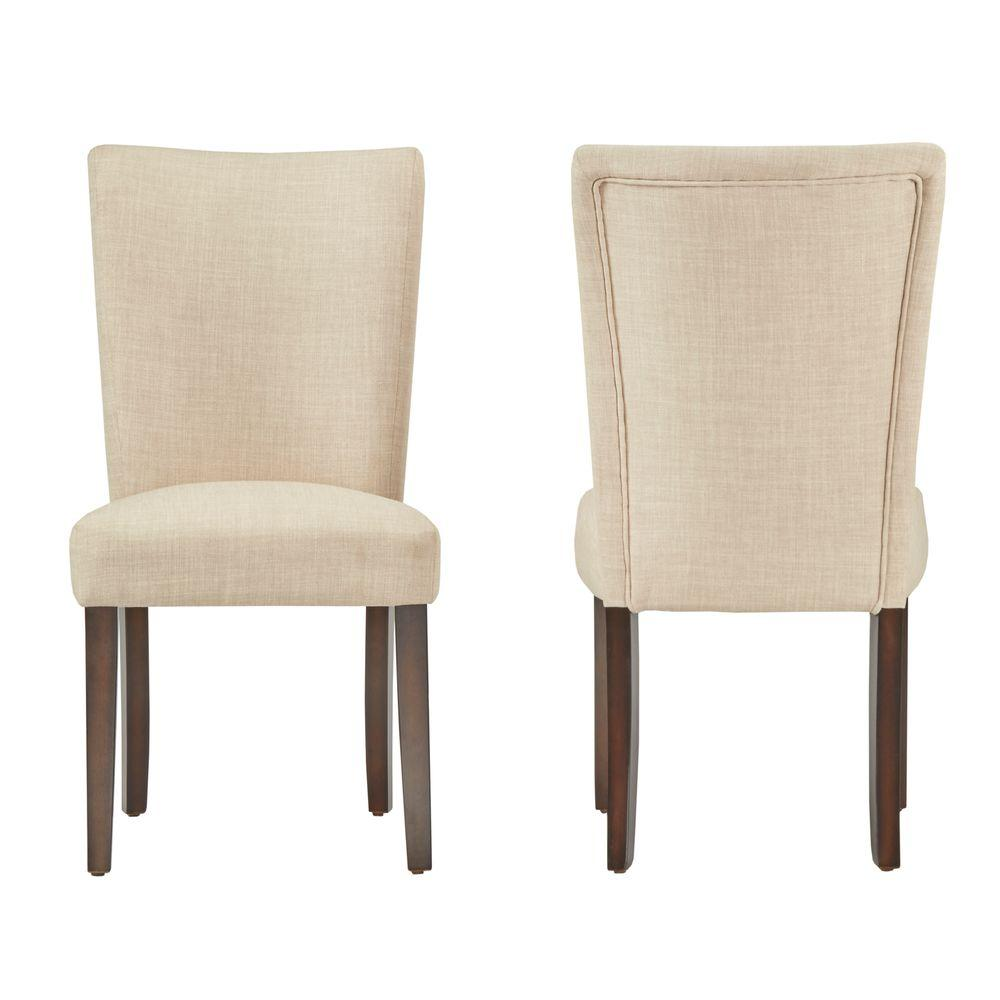 linen dining chairs round back homesullivan whitmire oatmeal linen dining chair set of 2