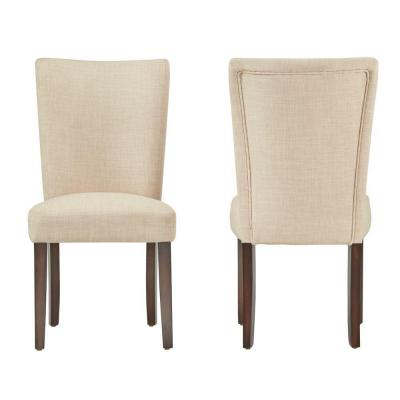 Whitmire Oatmeal Linen Dining Chair (Set of 2)