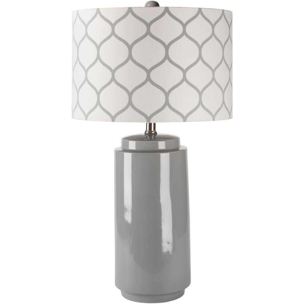 Cierva 29 in. Gray Indoor Table Lamp