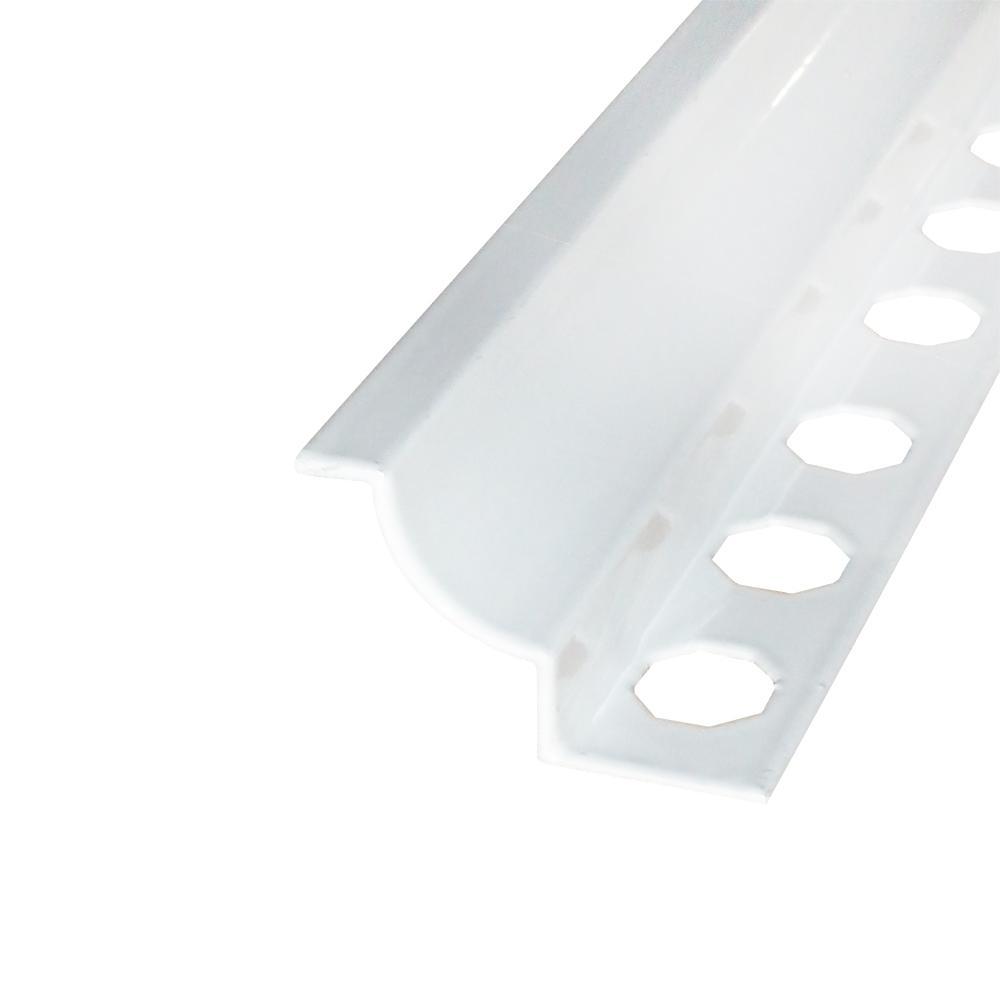 Novoescocia 5 White 7/16 in. x 98-1/2 in. Aluminum Tile Edging Trim